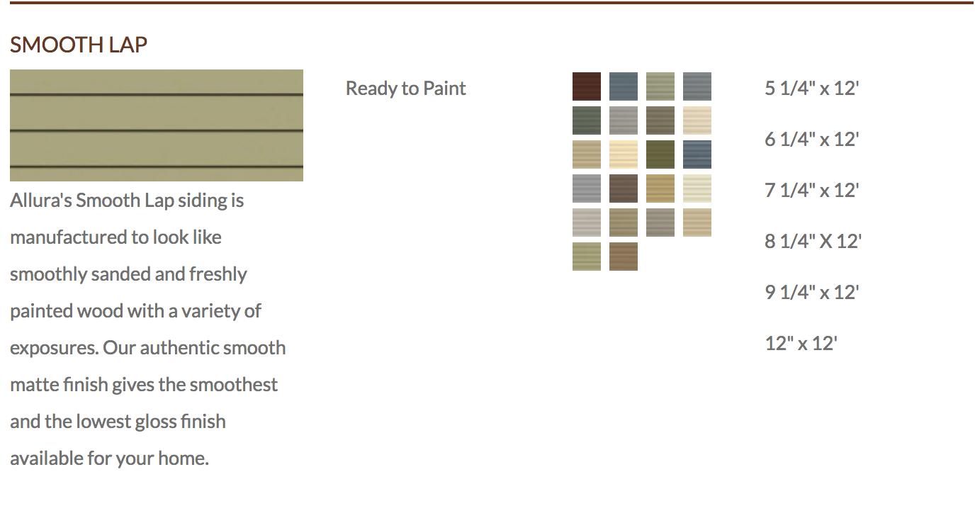 Denver Fiber Cement Lap Siding Allura Color Palette Smooth