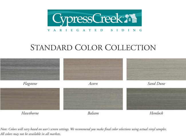 Alside Cypress Creek 174 Variegated Vinyl Siding