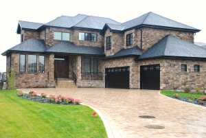 stone siding aurora home