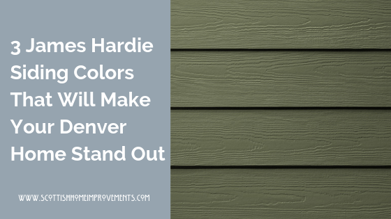 James Hardie modern siding colors