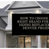 best siding brands denver
